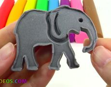 Learn the colors With Play Doh Peppa Pig Molds and Fun
