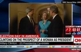 1993 Bill and Hillary discuss the first woman president