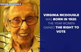 96-Year-Old Woman Casts Ballot for Hillary Clinton