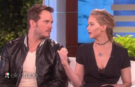 Jennifer Lawrence and Chris Pratt Talk Outer Space Stunts (Ellen)