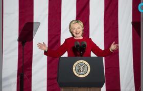 H. Clinton Speaks To Her Volunteers