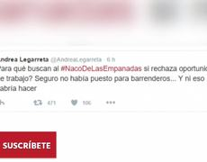 Andrea Legarreta niega burla al joven de las empanadas