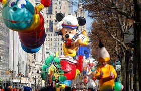 Giant balloons for Macy's Thanksgiving parade