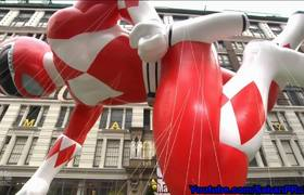 Mighty Morphi Power Ranger Red 2 - Macy's Thanksgiving Parade 2016