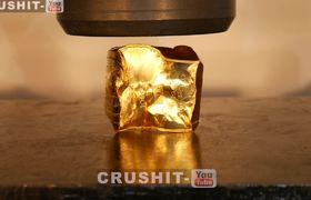 #Hydraulicress: Crushing $40,000 GOLD BAR