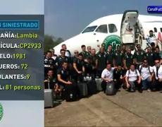 Cronica del accidente del avión de Chapecoense