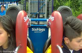 #VIRAL - Teen faints 4 times in mechanical game at Six Flags Mexico