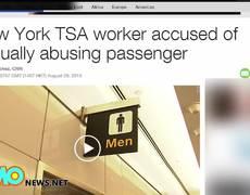 TSA agent touches private parts - Compilation