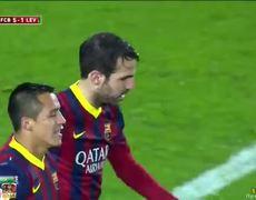 Barcelona vs Levante 5 1 Cesc Fabregas Goal 2912014