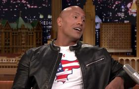 Dwayne Johnson's Daughter Is Not a Santa Fan
