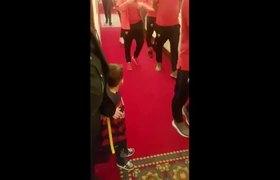 Lionel Messi meets little Murtaza Ahmadi Afghan boy