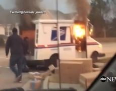 News - Driver Saves Packages From Mail Truck Fire