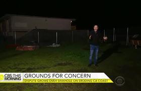 Growing dispute over sinkhole on eroding California coast