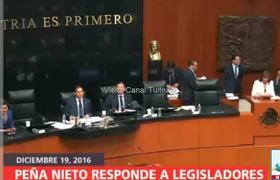 Peña Nieto responde preguntas parlamentarias