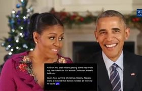 Merry Christmas from President Obama and First Lady Michelle Obama