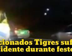 Aficionados Tigres sufren accidente durante festejos por el campeonato