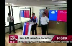 Sismo de 7.6 grados afecta el sur de Chile