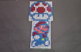 #VIRAL - Super Mario Stopmotion Made Of Rubik's Cubes
