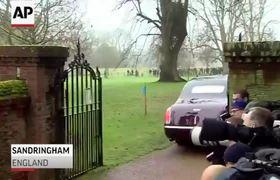 Queen Elizabeth II Attends Church Service