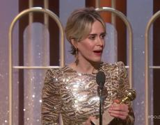 The 2017 Golden Globes - Sarah Paulson Wins Best Actress in a Limited Series or TV Movie