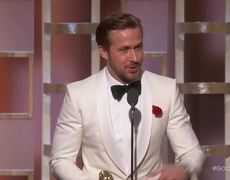 Ryan Gosling Wins Best Actor in a Musical at the 2017 Golden Globes