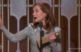 The 2017 Golden Globes - Isabelle Huppert Wins Best Actress in a Drama