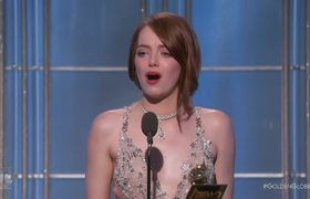 Emma Stone Wins Best Actress in a Musical at the 2017 Golden Globes