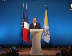News French president visits pope
