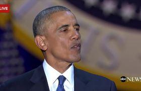 Barack Obama emotive last speech as president
