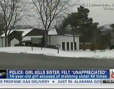 14yearold Girl Stabs 11yearold Sister 40 Times to Death