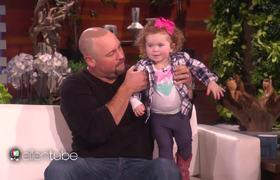 Ellen - A Too Cute 2-Year-Old Bottle Flipper!