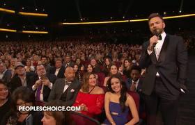 People's Choice 2017 host Joel McHale tries to bribe Tom Hanks