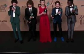 Stranger Things cast can't contain excitement over SAG win.