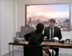 LG 84 HDTV Prank Armageddon during Job Interview