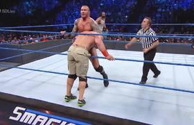 SmackDown - John Cena & Luke Harper vs. Bray Wyatt & Randy Orton