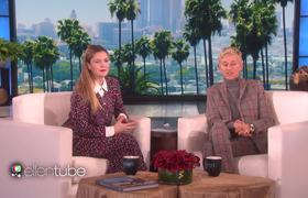 Ellen Helps Drew Barrymore Swipe Right!