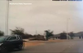 #Dashcam - Texas Steer on the Loose