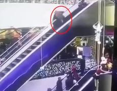 #ShockingVideo - Mother drops baby to death in Uzbekistan shopping centre