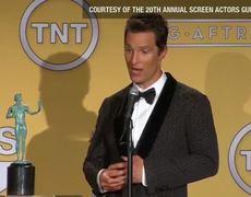 SAG Best Actor Matthew McConaughy wins Entire Speech