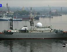 Russian spy ship 30 miles from US Navy sub base