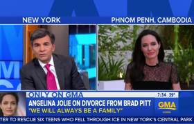 #GMA - Angelina Jolie Discusses Brad Pitt Divorce And New Cambodian Film