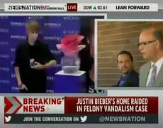 Police News Conference after Justine Biebers House Raid for Eggs Attack