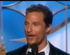 Golden Globe Awards 2014 Matthew McConaughey wins