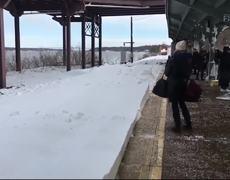 Amtrak Train Slams Passengers With Snow
