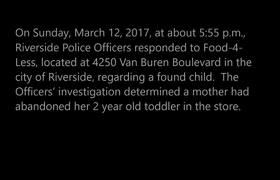 #CCTV; Missing mother for abandoned daughter in California supermarket