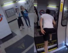 Man Races Train From One Station To The Next