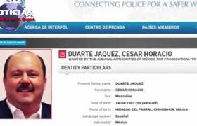 Interpol publica ficha para localizar a César Duarte