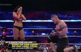 John Cena proposes to Nikki Bella: WrestleMania 33
