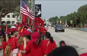 Protesters Gather Ahead of Xi's Fla. Visit