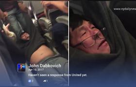 United Airlines passenger dragged off